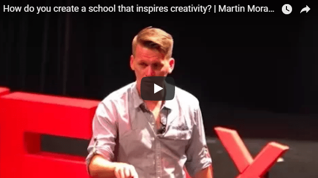 Lead Designer and Director of Upper School Martin Moran on TEDx Talks, Discusses Creativity in High School